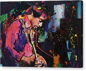 Jimi Hendrix II Canvas Print by Richard Day