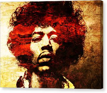 Jimi Hendrix Canvas Print by J- J- Espinoza