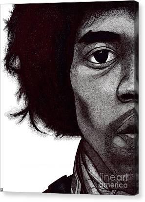 Jimi Hendrix Canvas Print by Mark Richardson