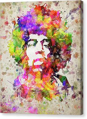 Jimmy Hendrix Canvas Print - Jimi Hendrix Portrait by Aged Pixel