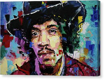 Jimi Hendrix Portrait II Canvas Print by Richard Day