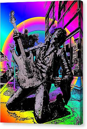 Jimi Hendrix Canvas Print by Tim Allen