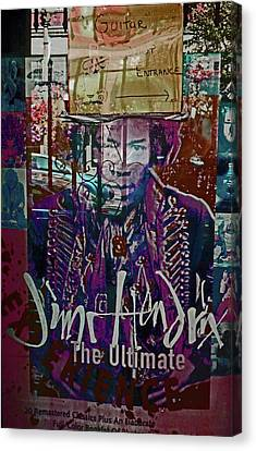 Canvas Print featuring the photograph Jimi Hendrix - Ultimate Legend by Walter Fahmy