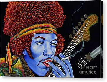 Jimi In Thought Canvas Print by Nannette Harris