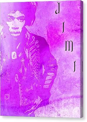 Jimi Purple Haze Canvas Print