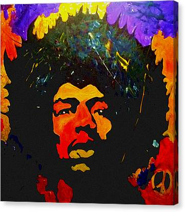 Jimi The Man Canvas Print