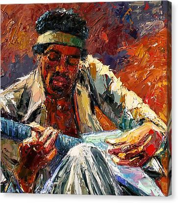 Jimi's Music Canvas Print by Debra Hurd