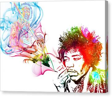 Jimmi Hendrix Canvas Print by The DigArtisT