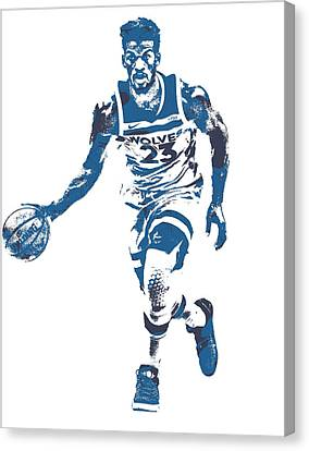 Free Canvas Print - Jimmy Butler Minnesota Timberwolves Pixel Art 5 by Joe Hamilton