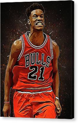 Jimmy Butler Canvas Print by Semih Yurdabak