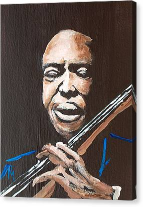 Jimmy Garrison Canvas Print by Pete Maier