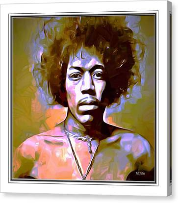 Jimmy Hendrix Border Print  Canvas Print by Scott Wallace