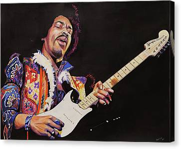 Jimmy Hendrix Canvas Print by Chris Benice