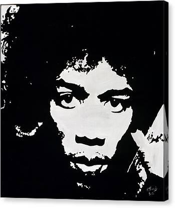 Jimmy Hendrix Canvas Print by Leeann Stumpf