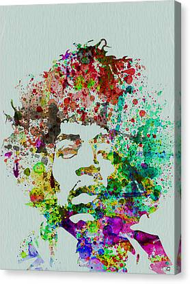Jimmy Hendrix Watercolor Canvas Print by Naxart Studio