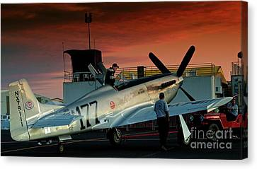 Jimmy Leeward And The Galloping Ghost By Gus Mccrea Canvas Print by Gus McCrea
