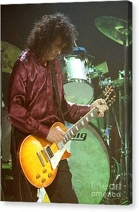Robert Plant Performance Art Canvas Print - Jimmy Page-0002 by Timothy Bischoff