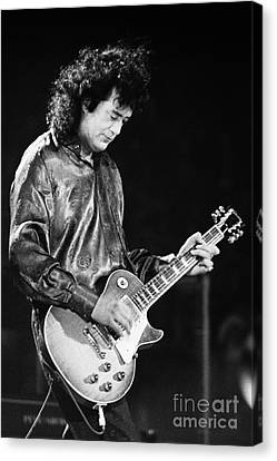 Robert Plant Performance Art Canvas Print - Jimmy Page-0023 by Timothy Bischoff