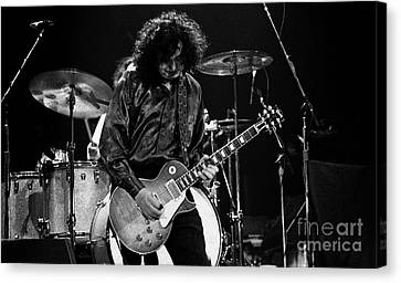 Robert Plant Performance Art Canvas Print - Jimmy Page-0047 by Timothy Bischoff