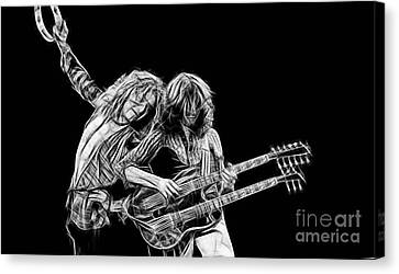 Jimmy Page And Robert Plant Collection Canvas Print by Marvin Blaine