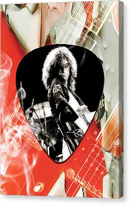 Jimmy Page Canvas Print - Jimmy Page Art by Marvin Blaine