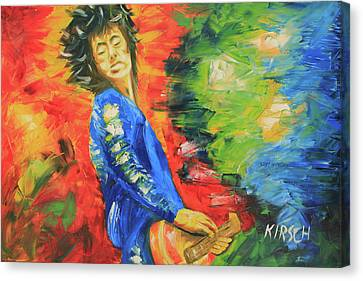Taylor Swift Canvas Print - Jimmy Page by Robert Kirsch
