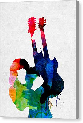 Jimmy Watercolor Canvas Print by Naxart Studio