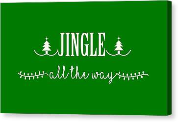 Canvas Print featuring the digital art Jingle All The Way by Heidi Hermes