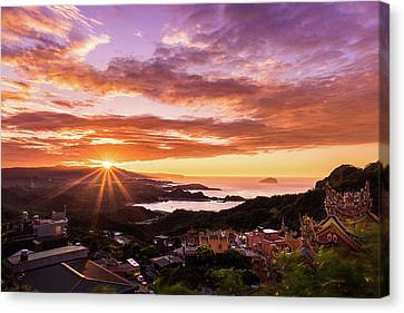 Jiufen Sunset Canvas Print