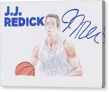 J.j Redick Canvas Print by Toni Jaso