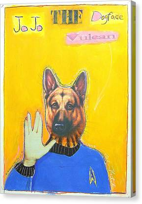 Jo Jo The Dodfaced Vulcan Canvas Print by Mike  Mitch