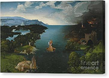 Joachim Patinir And Landscape With Charon Crossing The River Styx Canvas Print