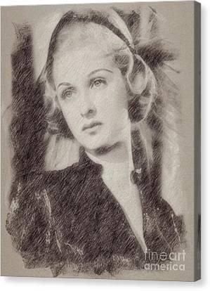 Hepburn Canvas Print - Joan Bennett Vintage Hollywood Actress by Frank Falcon
