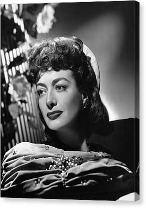 1940s Hairstyles Canvas Print - Joan Crawford, Ca. 1947 by Everett