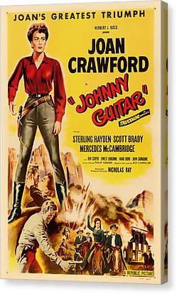 Joan Crawford In Johnny Guitar 1954 Canvas Print by Mountain Dreams
