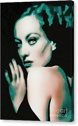 Joan Crawford - Pop Art Canvas Print