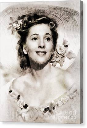 Joan Fontaine, Vintage Actress By John Springfield Canvas Print