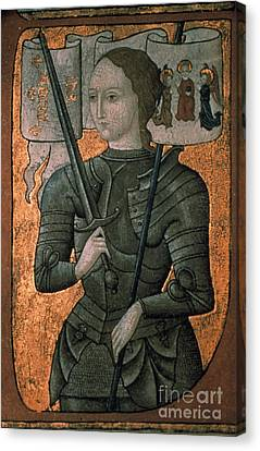 Joan Of Arc (c1412-1431) Canvas Print by Granger