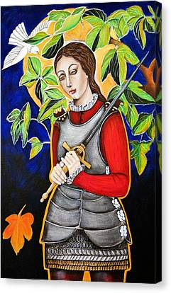 Joan Of Arc Canvas Print by Christina Miller