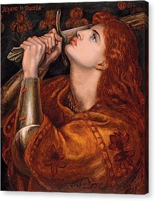 Joan Of Arc Canvas Print by Dante Gabriel Rossetti