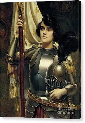 Joan Of Arc Canvas Print by Harold Hume Piffard