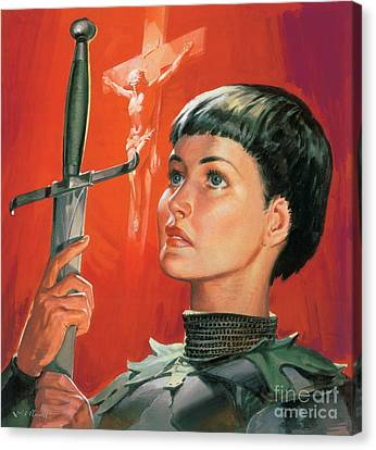 Armor Canvas Print - Joan Of Arc by James Edwin McConnell