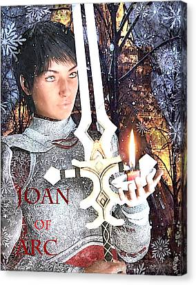 Joan Of Arc Poster 2 Canvas Print by Suzanne Silvir