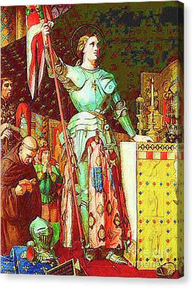 Joan Of Ark Canvas Print by D Fessenden