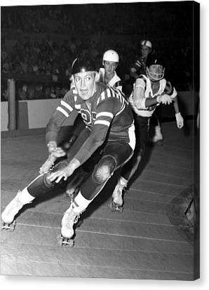 Joan Weston Foreground, Athlete Canvas Print by Everett
