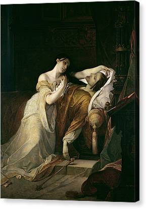 Joanna The Mad With Philip I The Handsome Canvas Print - Joanna The Mad With Philip I The Handsome by Louis Gallait
