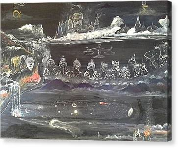 The Void Canvas Print - Job How It All Started. by Emmanuel Nwogbo