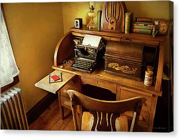 Canvas Print - Job - Typist - A Person With Many Interests by Mike Savad