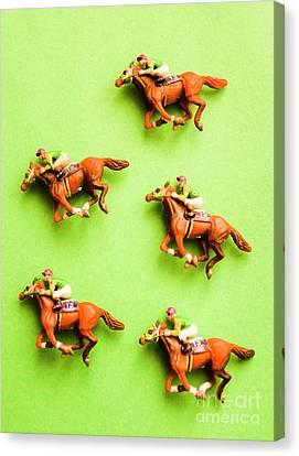 Bet Canvas Print - Jockeys And Horses by Jorgo Photography - Wall Art Gallery