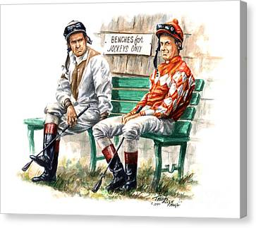 Jockeys Only Canvas Print by Thomas Allen Pauly